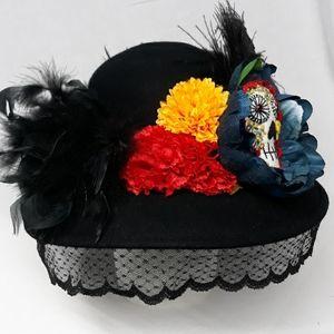 Day of the Dead Dia de los muertos Sugar skull hat